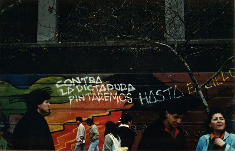 Protesting Dictatorship, Chile 1987